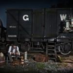 The Traveller, Alex Randall lights, photographs Claire Rosen