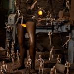 Wooden Legs, Alex Randall lights, photographs Claire Rosen