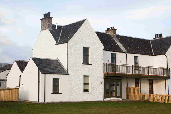 Ardbeg Seaview cottage exterior