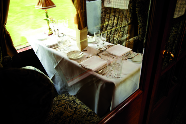 British Pullman interior by Matt Hind