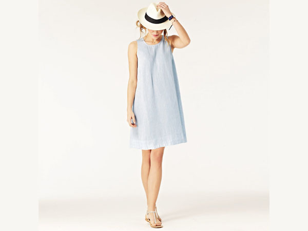 The White Company pleat back dress