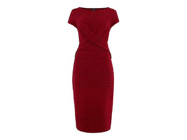 Therapy Textured Knot Front Dress