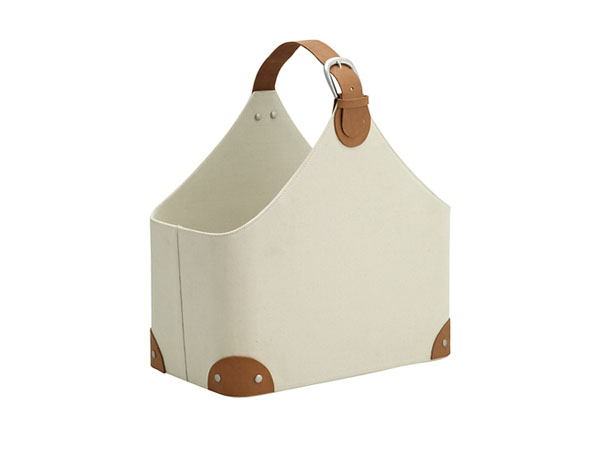 John Lewis Country Magazine Holder, Cream
