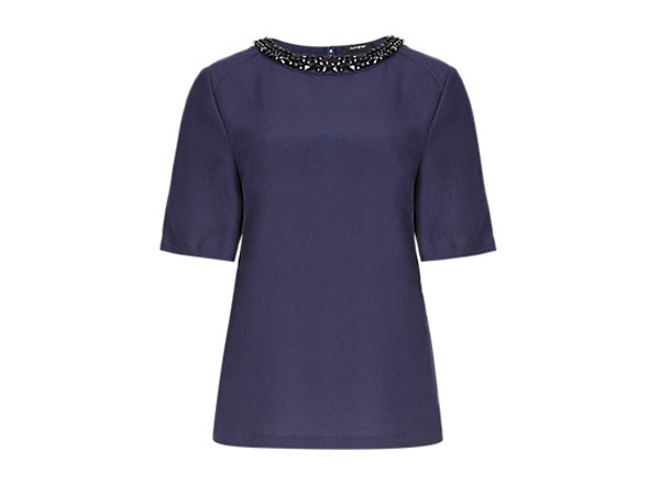 Autograph jewel embellished blouse from Marks & Spencer