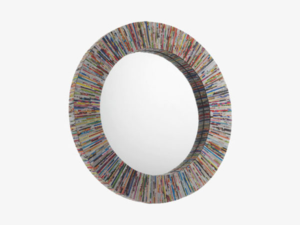 Cohen recycled magazine mirror from Habitat
