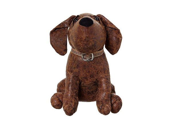 Faux-leather dog door stop from Linea