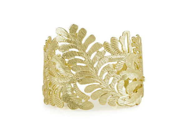 Gold acorn leaf cuff from Hobbs