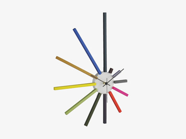 Spectrum multi-coloured wall clock from Habitat