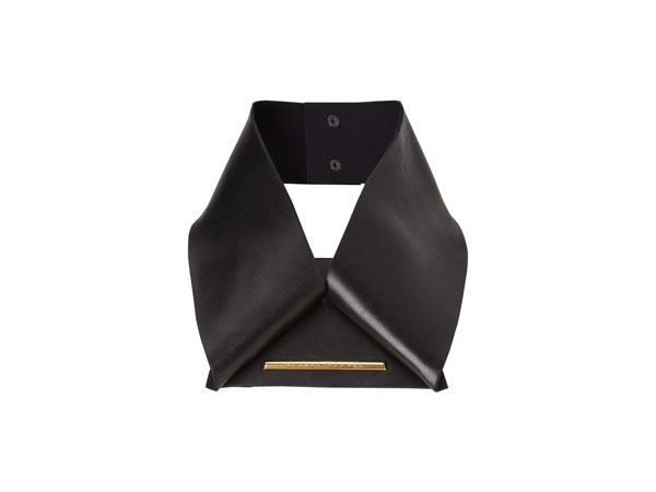 Black leather collar from Roland Mouret