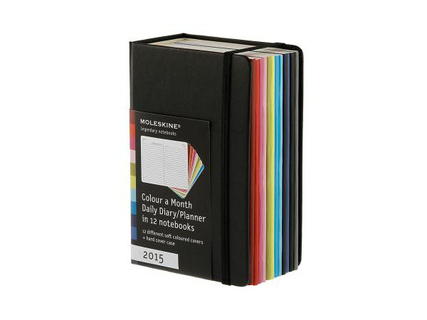 Colour a Month daily planner from Moleskine