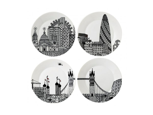 London Calling plates from Charlene Mullen for Royal Doulton