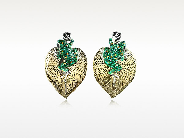 Animal Kingdom clip on earrings from Roberto Cavalli