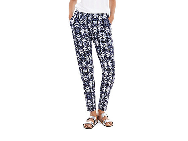 Batik print tapered leg trousers from M&S Collection