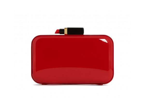 Fifi clutch in red patent leather from Lulu Guinness