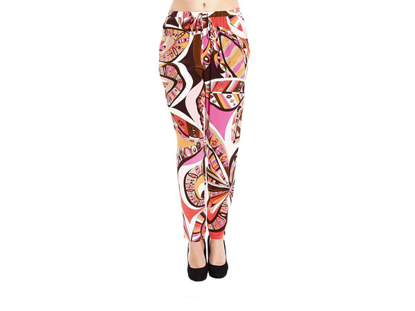 Flowers Power silk print trousers from Emilio Pucci