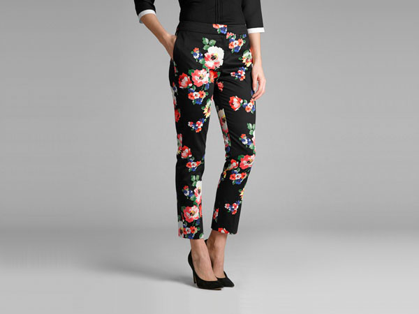 Garden floral slim leg trousers from Laura Ashley