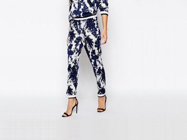Printed casual trousers from Only