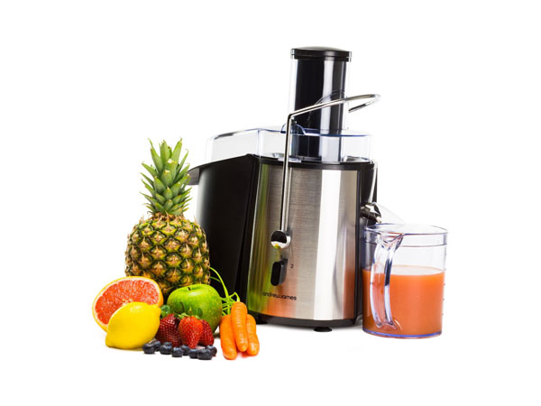 Professional whole fruit power juicer from Andrew James