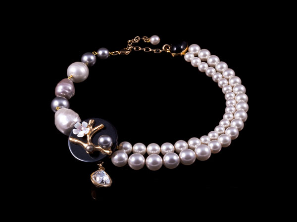 Riviera Kyoto Swarovski pearl necklace from Philippe Ferrandis