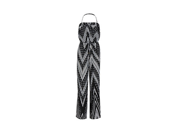 Chevron wide leg bandeau jumpsuit from M&S Collection