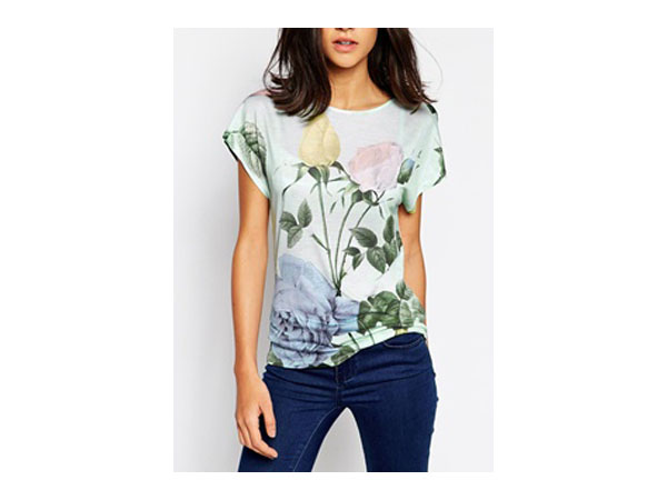 Distinguishing rose print t-shirt from Ted Baker