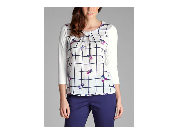 Floral check print top from Laura Ashley