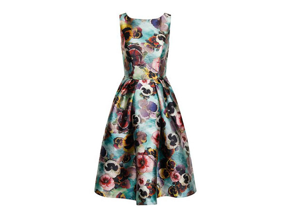 Floral print midi dress from Chi Chi London