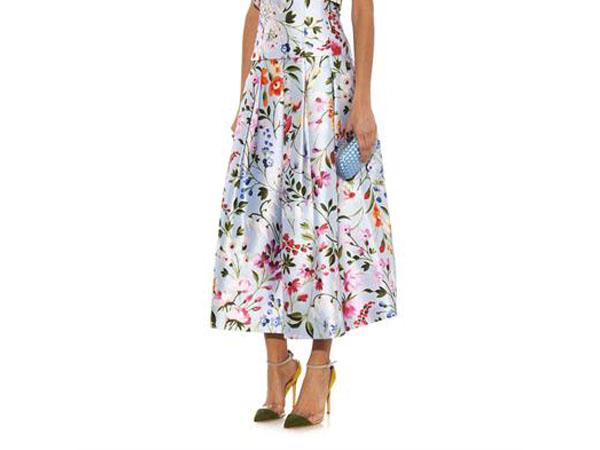 Floral print skirt from Oscar de la Renta