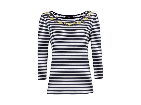 Miretta 34 sleeve embellished T-shirt from Weekend Max Mara
