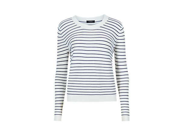 Round neck striped jumper from Autograph by Marks & Spencer