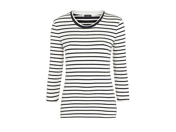 Striped jumper with gemstone trim from Gerry Weber
