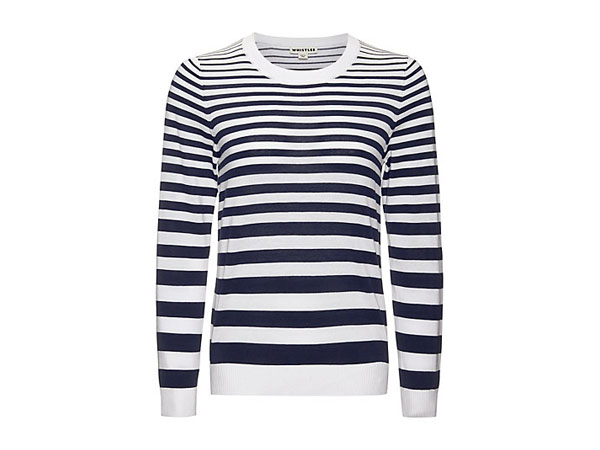 Striped size zip knit jumper from Whistles