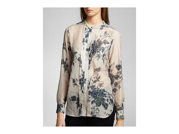 Wetherby shirt in hand drawn floral silk chiffon from Belstaff