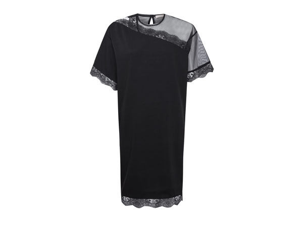 Black lace mesh panel shift dress from Christopher Kane
