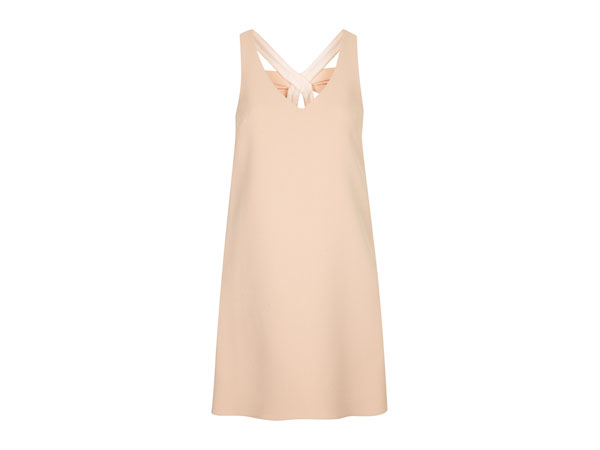 Bow back crepe shift dress from Topshop