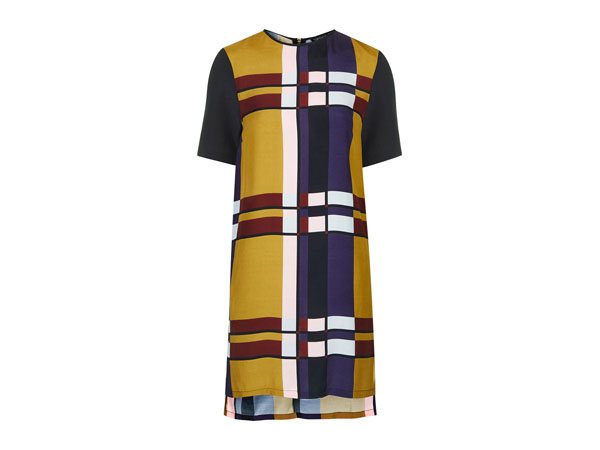 Colour block tunic dress from Topshop