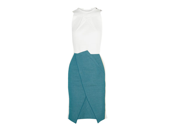 Crepe and cotton blend dress from Rouland Mouret