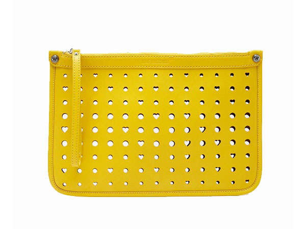 Cut out heart clutch bag from Love Moschino