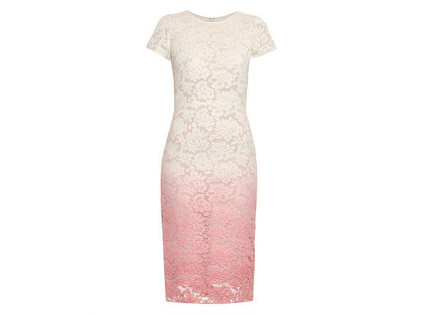 Degrade lace short-sleeved dress from Burburry Prorsum