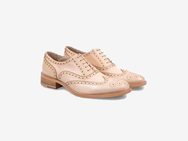 Dip-dyed light pink leather Milena brogues from Paul Smith