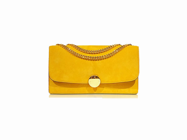 Double trouble sunflower suede shoulder bag from Marc Jacobs