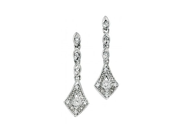 Gecko vintage diamond earrings from Colonia Jewellery