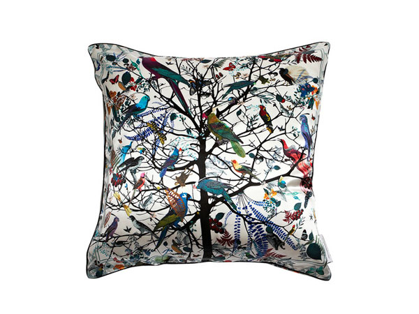 Hjatar Tre silk cushion from Kristjana S Williams
