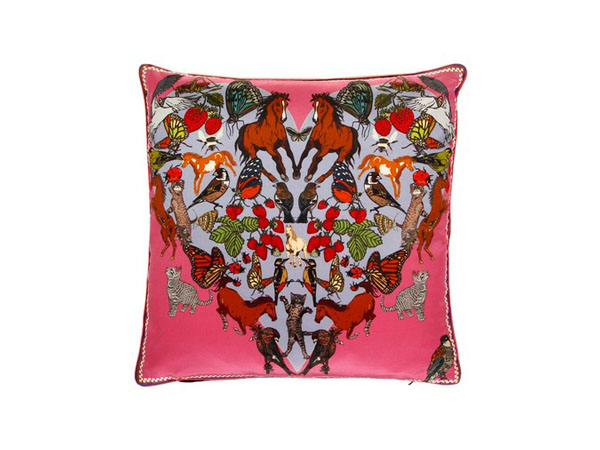 I Love Everything cushion from Silken Favours, London