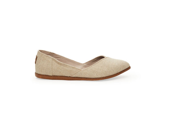 Jutti natural burlap flats from Toms