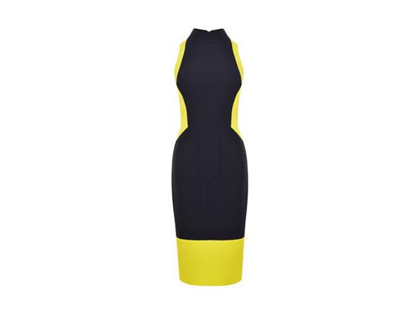 Midnight acid sculpted dress from Amanda Wakeley