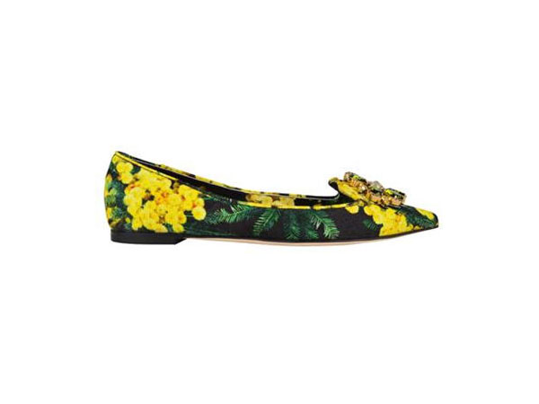 Mimosa jewel shoes from Dolce and Gabbana