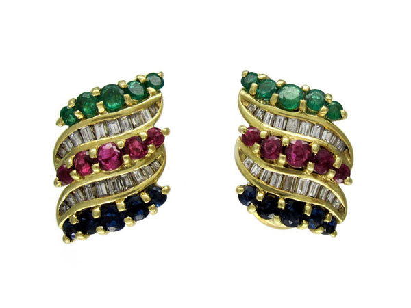 Multi-gemstone earrings from Antique Jewellery Company