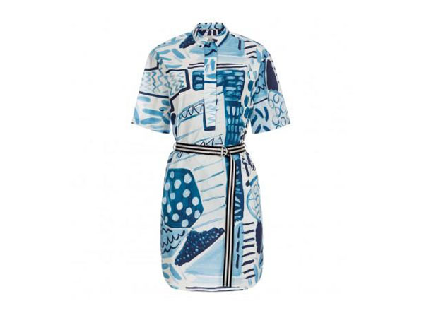 Painted patchwork cotton shirt dress from Paul Smith