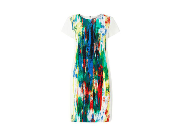 Short-sleeved watercolour shift dress from Vince Camuto